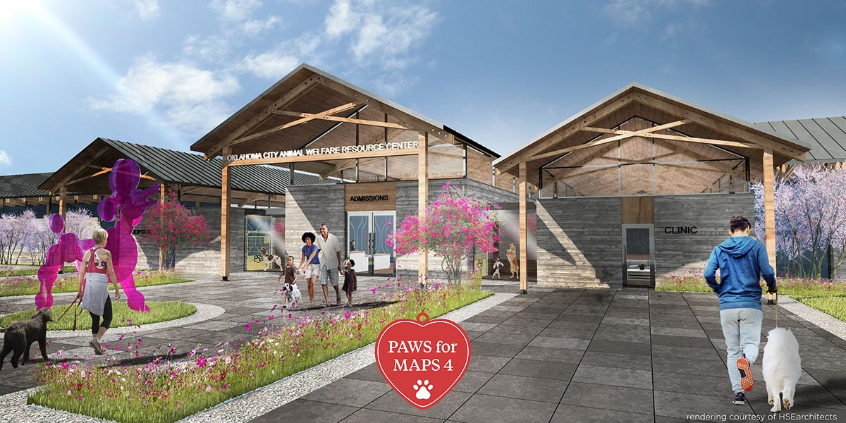New Oklahoma City Animal Shelter exterior rendering