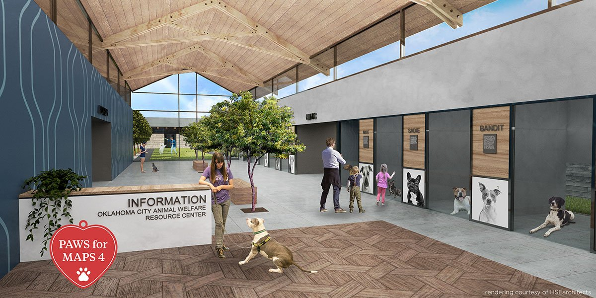 New Oklahoma City Animal Shelter interior rendering