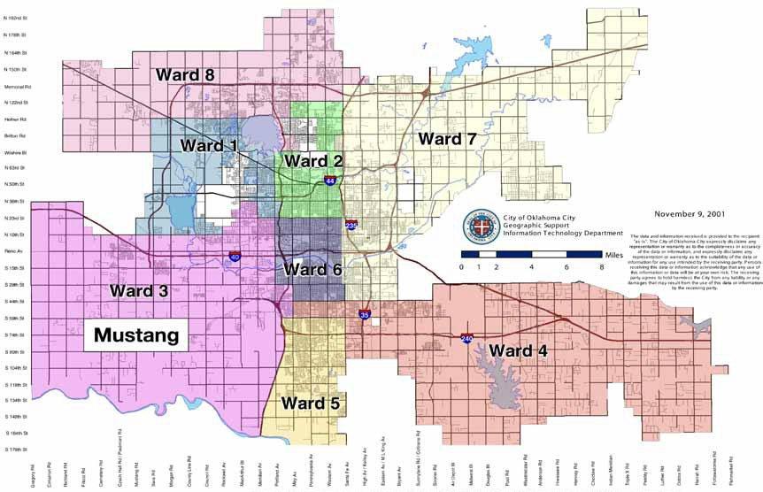 Image of Oklahoma City Ward Map